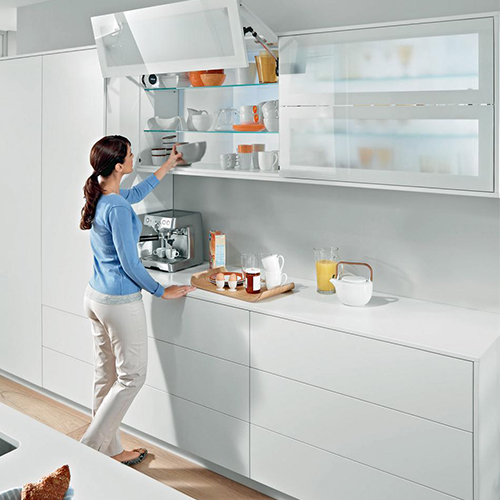 Automated kitchen cabinets