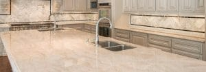 quartzite kitchen countertops with island