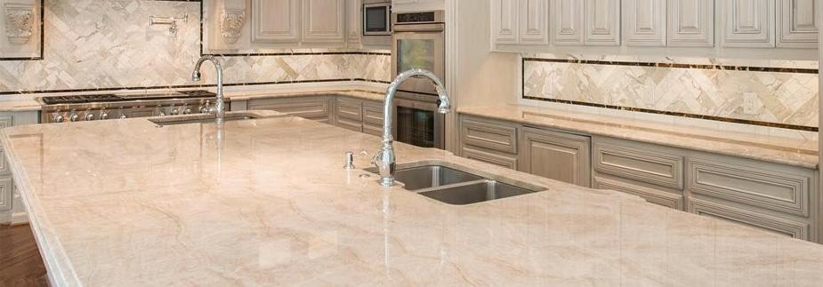 quartzite kitchen countertops with island