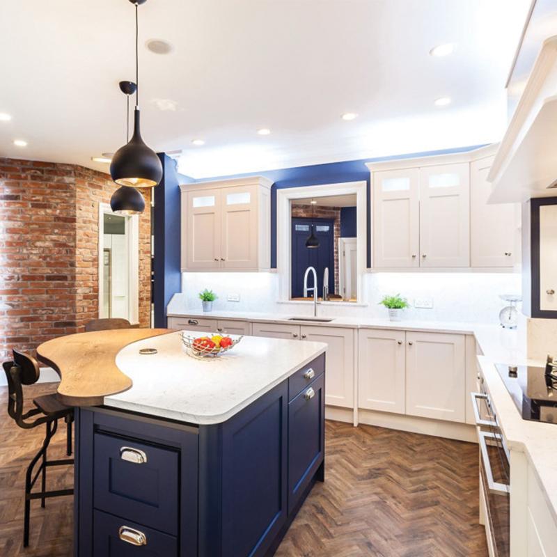 Modern kitchen quartz countertops Charlotte Silestone