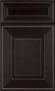 Bedford truffle finish kitchen cabinet door