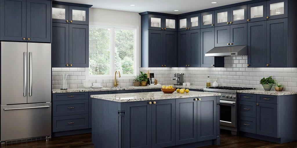 blue kitchen cabinets Charlotte