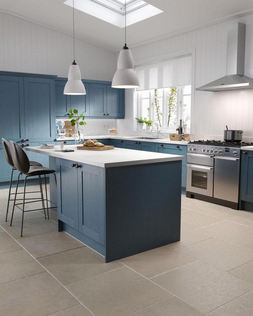 modern blue kitchen cabinets Charlotte NC