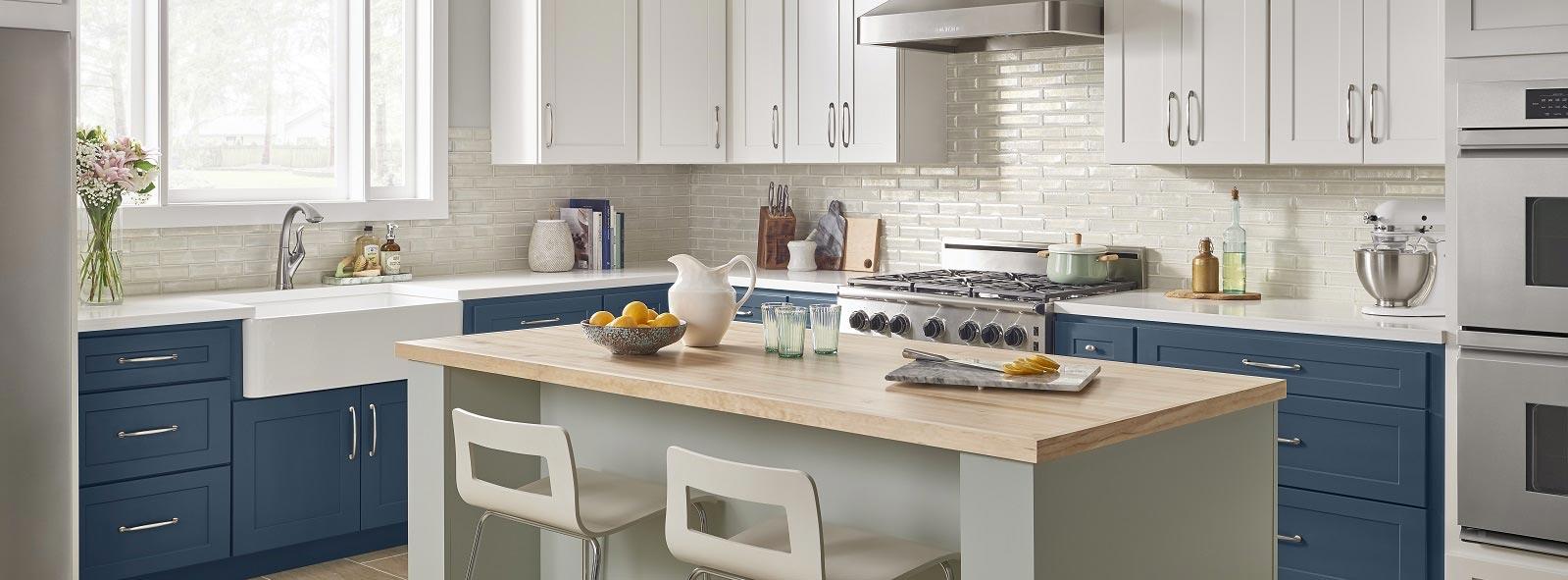 two-tone kitchen cabinets Charlotte