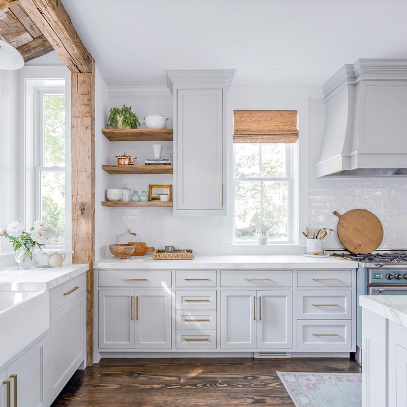 Country style white kitchen Charlotte NC