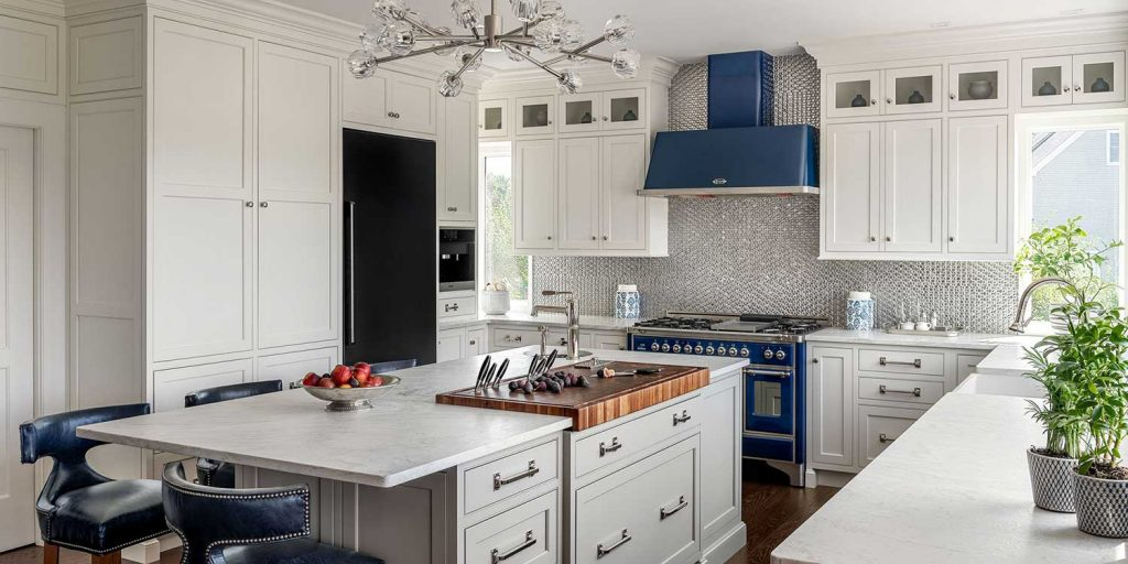 white kitchen cabinetry with other elements Charlotte NC